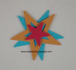 stampin up, dostamping, dawn olchefske, spinning star tutorial