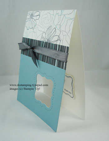 stampin up, dostamping, dawn olchefske, demonstrator, fifth avenue floral. movers and shapers curly label die, big shot