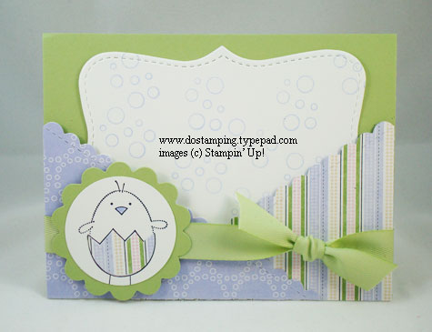 stampin up, dostamping, dawn olchefske, demonstrator, easter, top note die, criss cross card