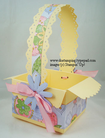 stampin up, dostamping, dawn olchefske, demonstrator, easter, easter basket, scallop envelope die, big shot