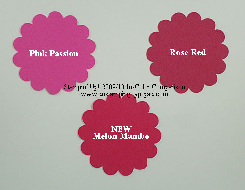 New 2009 2010 Stampin Up In Color Chart Comparison Dostamping