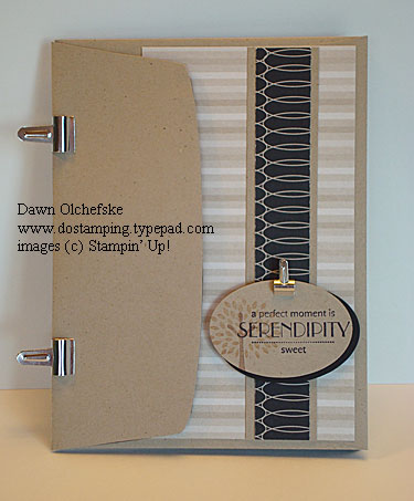stampin up, dostamping, dawn olchefske, demonstrator, sweet serendipity, trendy trees, urban oasis dsp, envelope scrapbook