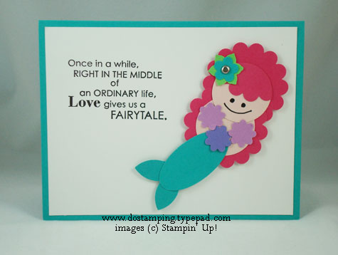 stampin up, dostamping, dawn olchefske, demonstrator, punch art, mermaid