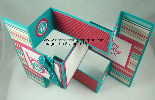 TriFold Shutter Card  Party Hearty  Dostamping With Dawn