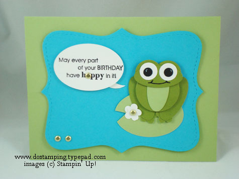 stampin up, dostamping, dawn olchefske, demonstrator, full of life, punch art, frog