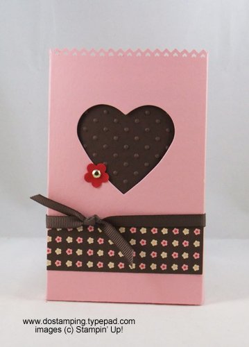 stampin up, dostamping, dawn olchefske, demonstrator, movers and shapers curly label die, heart window box, big shot