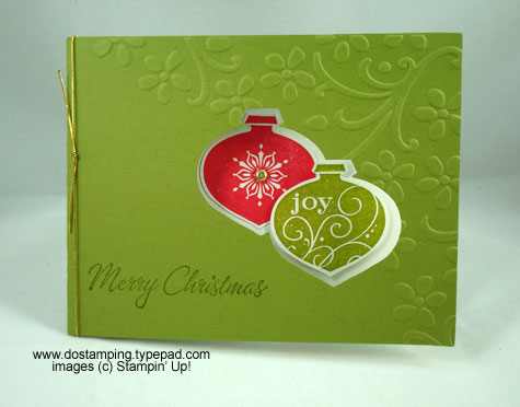 stampin up, dostamping, dawn olchefske, demonstrator, movers and shapers curly label die, double cut ornament window card, big shot