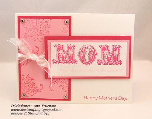 handmade birthday cards for mom. Supplies: Message for Mom