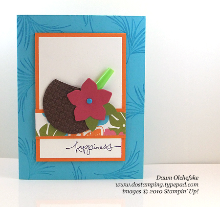 stampin up, dostamping, dawn olchefske, demonstrator, punch art, coconut drink