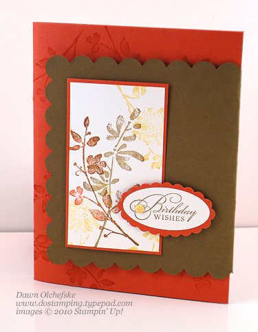 Watercolor Trio Flap Card With Scallop Square Die
