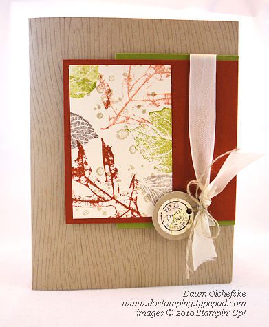 Stampin' Up! French-Foliage