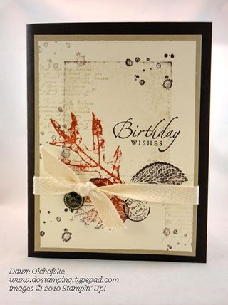 stampin up, dostamping, dawn olchefske, demonstrator, shadow block stamping, masculine, french folliage