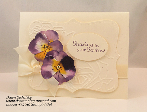 stampin up, dostamping, dawn olchefske, demonstrator, butterfly punch, butterfly punch pansies