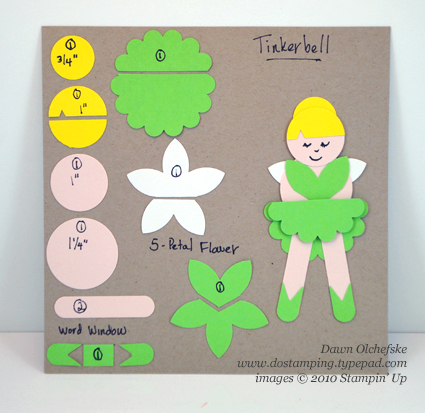 stampin up, dostamping, dawn olchefske, demonstrator, punch art, tinkerbell