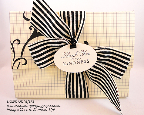stampin up, dostamping, dawn olchefske, greeting card kids, gift, video, FREE tutorial, Box Wrap