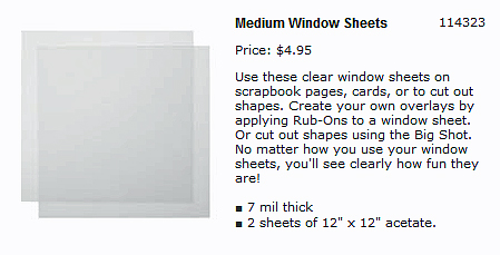 Window-Sheets