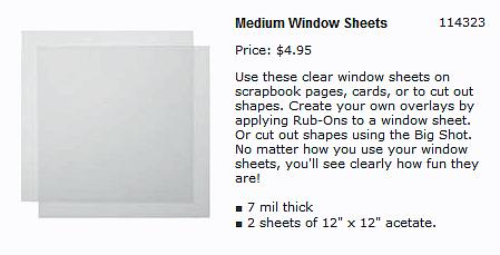Window-Sheets