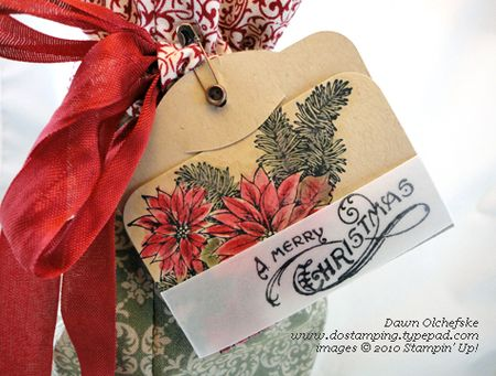 stampinup, dostamping, dawn olchefske, two tags, big shot, christmas