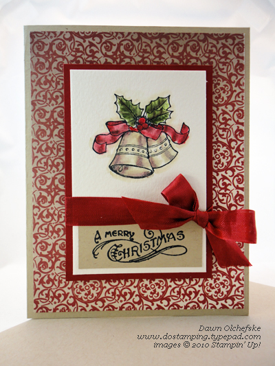 stampinup, dostamping, dawn olchefske, Bells and Boughs, Christmas