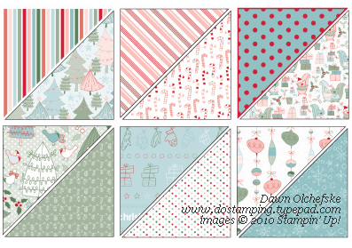 """Stampin' Up just announced... the Designer Series Paper, """"Candy Cane Christmas"""" from the Holiday Mini Catalogue (shown here), is anticipated to run out next ..."""