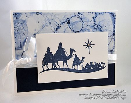 stampin up, dostamping, dawn olchefske, demonstrator, come to bethlehem, christmas, bubble magic technique