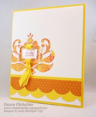 stampin up, dostamping, dawn olchefske, demonstrator, ornate blossom, beveled window pane