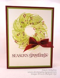 Stampin' Up! DOstamping, Dawn Olchefske, demonstrator, French Foliage, christmas