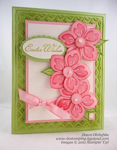 stampin up, dostamping, dawn olchefske, demonstrator, easter, build a blossom, blossom builder punch