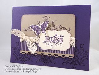 stampin up, dostamping, dawn olchefske, demonstrator, decorative label punch, bliss
