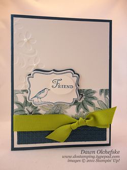 stampin up, dostamping, dawn olchefske, demonstrator, decorative label punch, four frames