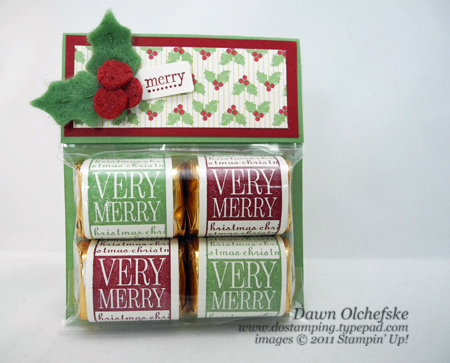 stampin up, dostamping, dawn olchefske, demonstrator, hershey nugget, its a wrap, packaging