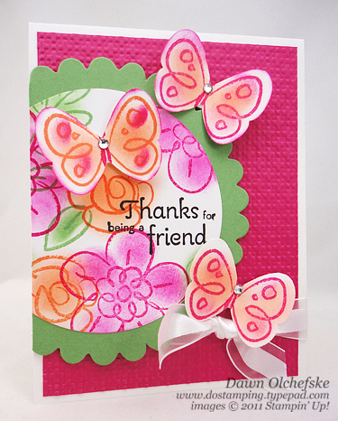 stampin up, dostamping, dawn olchefske, demonstrator, butterfly punch, flower fest