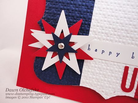 stampin up, dostamping, dawn olchefske, spinning star tutorial, Patriotic
