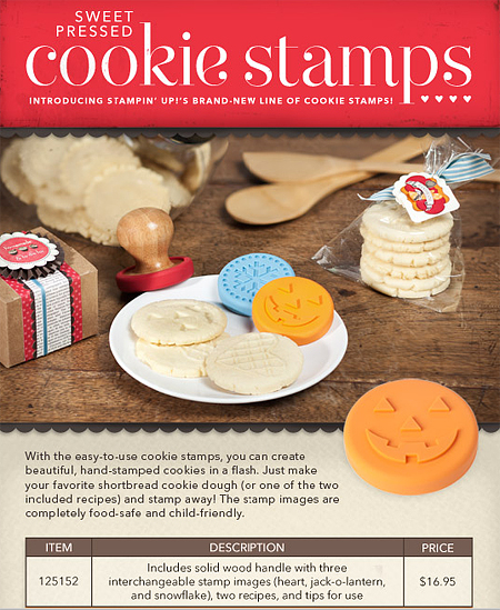 Stampin Up Sweet Pressed Cookie Stamps Snickerdoodle Recipe