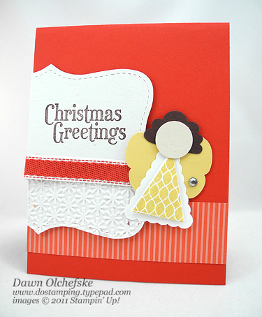 stampin up, dostamping, dawn olchefske, demonstrator, butterfly punch, punch art, angel