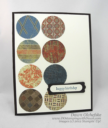 stampin up, dostamping, dawn olchefske, demonstrator, well worn, masculine, birthday