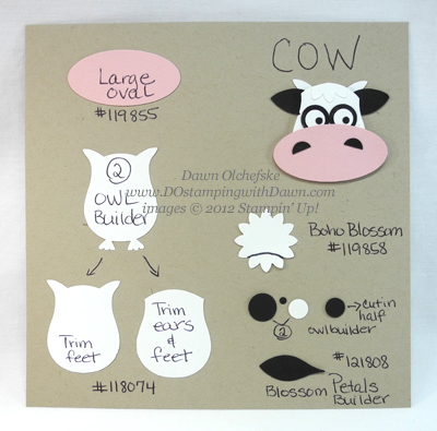 stampin up, dostamping, dawn olchefske, demonstrator, cow punch art,