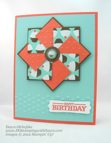 stampin up, dostamping, dawn olchefske, demonstrator, faux pinwheel, sweet shop dsp