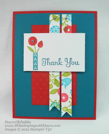 stampin up, dostamping, dawn olchefske, demonstrator, double time stamping, bright blossoms, thank you kindly