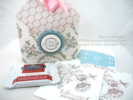 stampin up, dostamping, dawn olchefske, demonstrator, beau chateau dsp, double pocket pouch, elements of style