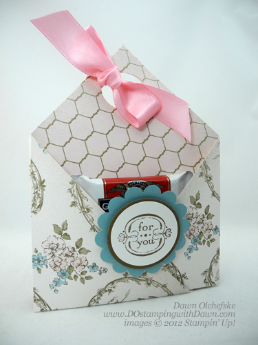 stampin up, dostamping, dawn olchefske, demonstrator, beau chateau dsp, double pocket pouch