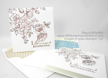 stampin up, dostamping, dawn olchefske, demonstrator, elements of style, beau chateau dsp, stampin pastels