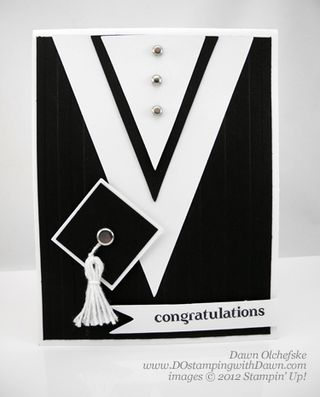 stampin up, dostamping, dawn olchefske, demonstrator, graduation, perfect pennants die, big shot