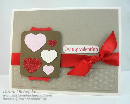 stampin up, dostamping, dawn olchefske, demonstrator, big shot, fashionable hearts embosslit, valentine