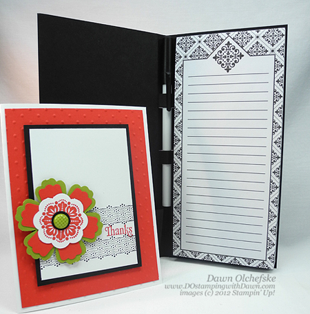 stampin up, dostamping, dawn olchefske, demonstrator, fresh vintage, punch art, notepad