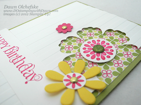 stampin up, dostamping, dawn olchefske, demonstrator, birthday, mixed bunch, blossom punch