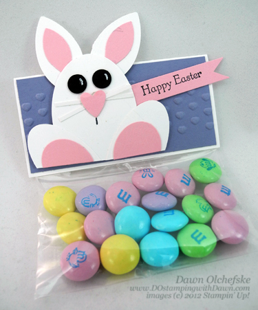 stampin up, dostamping, dawn olchefske, demonstrator, punch art bunny, cello treat bag