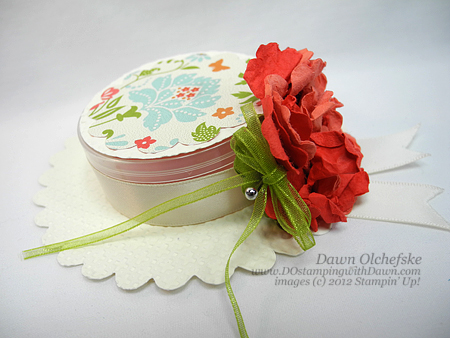 stampin up, dostamping, dawn olchefske, demonstrator, hat box, everyday enchantment dsp