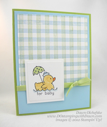 stampin up, dostamping, dawn olchefske, demonstrator, easy events, baby, gingham, big shot