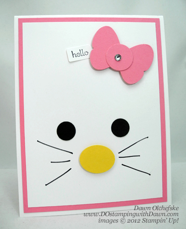 stampin up, dostamping, dawn olchefske, demonstrator, hello kitty, punch art, butterfly punch